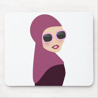 Estilo islámico de la señora del hijab del muslima tapetes de ratón