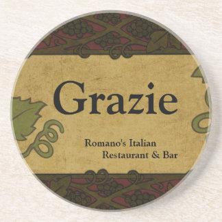 Estilo italiano - el restaurante/la tienda añade e posavasos personalizados