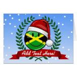 Estilo jamaicano alegre del navidad de la bandera tarjeta de felicitación