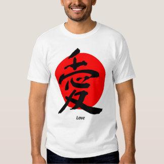 Estilo japonés del amor playera