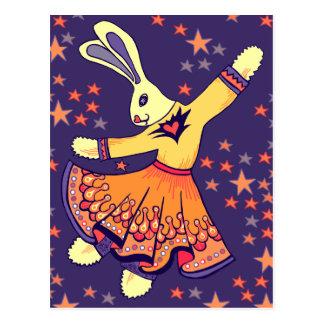 Estilo libre del conejito tarjeta postal