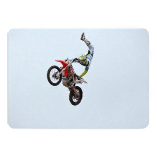 Estilo libre del motocrós invitación personalizada