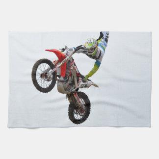 Estilo libre del motocrós toalla