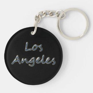 Estilo Los Ángeles de la playa - en negro Llavero Redondo Acrílico A Doble Cara