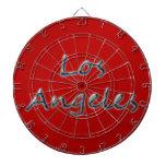 Estilo Los Ángeles de la playa - en rojo Tabla Dardos