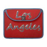 Estilo Los Ángeles de la playa - en rojo Funda Para Macbooks