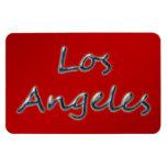 Estilo Los Ángeles de la playa - en rojo Imán