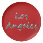 Estilo Los Ángeles de la playa - en rojo Plato De Cena