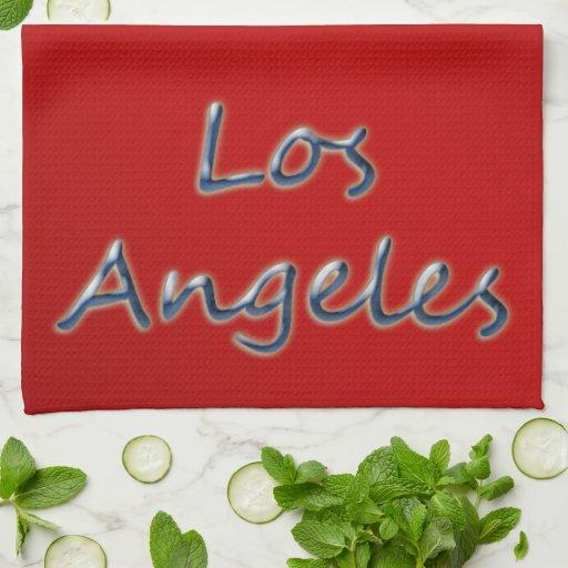 Estilo Los Ángeles de la playa - en rojo Toallas