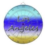 Estilo Los Ángeles - fondo de la playa de la playa Tablero Dardos