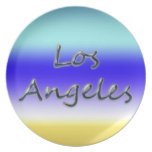 Estilo Los Ángeles - fondo de la playa de la playa Plato De Cena