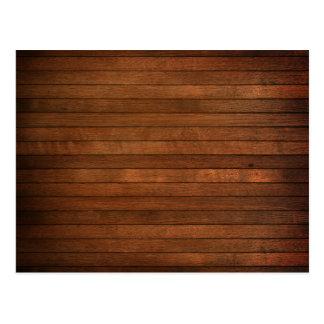 Estilo manchado grano de madera tarjeta postal