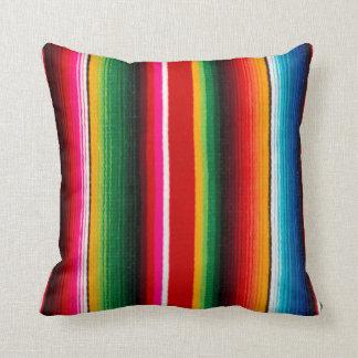 estilo mexicano colorido cojín
