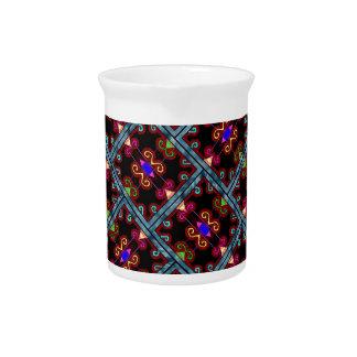 Estilo mexicano negro colorido jarrones
