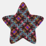 Estilo mexicano negro colorido colcomanias forma de estrella