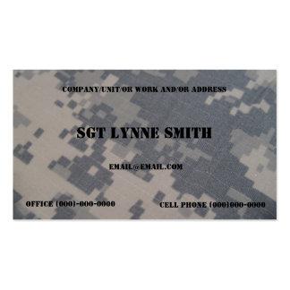Estilo militar tarjetas personales