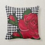 Estilo moderno 2 de la almohada del rosa rojo