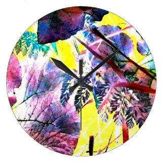 Estilo moderno de la foto del arte abstracto del j reloj de pared