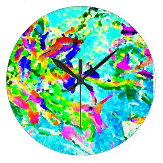 Estilo moderno de la foto floral del arte abstract relojes de pared