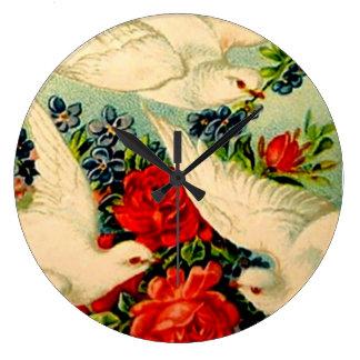 Estilo moderno del arte del vintage de los rosas d relojes de pared
