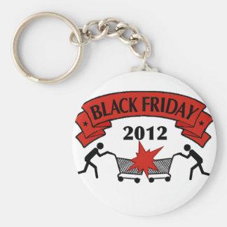Estilo negro 2012 de viernes llaveros