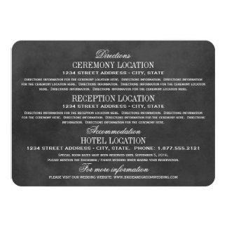 Estilo negro de la pizarra de las tarjetas de invitación 11,4 x 15,8 cm