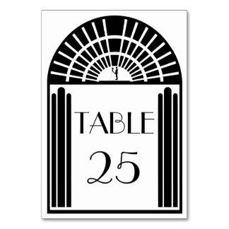 Estilo negro y blanco del número de la tabla del b