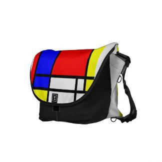 Estilo Neo-plasticism 3 de Mondrian Bolsa Messenger