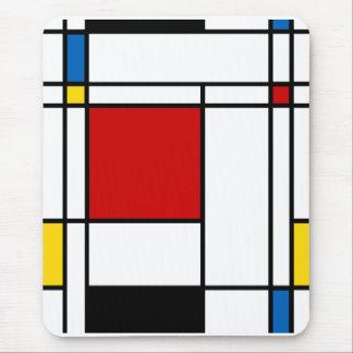 Estilo Neo-Plasticism de Mondrian Alfombrilla De Ratón