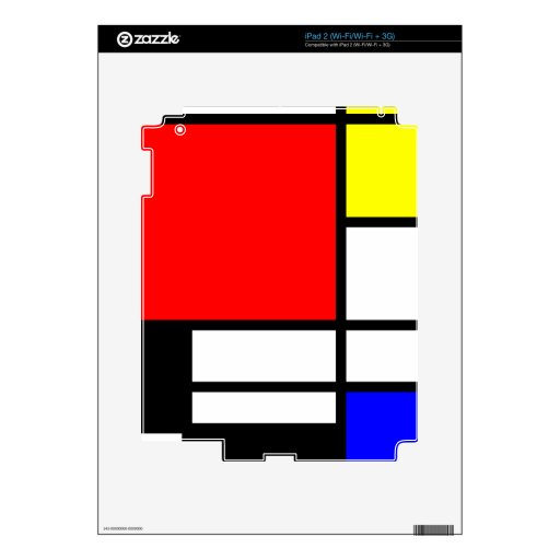 Estilo Neo-plasticism de Mondrian Skins Para iPad 2