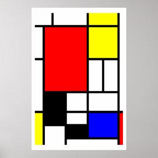 Estilo Neo-plasticism de Mondrian Posters