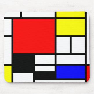 Estilo Neo-plasticism de Mondrian Tapete De Raton
