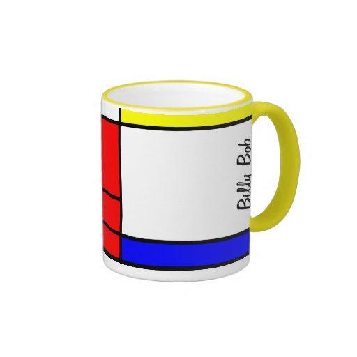 Estilo Neo-plasticism de Mondrian Tazas De Café