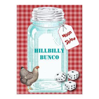 """Estilo o estilo rural de Bunco Hillybilly Invitación 5.5"""" X 7.5"""""""