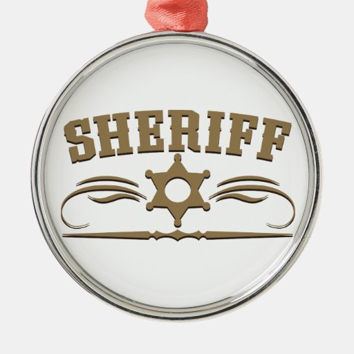 Estilo occidental del sheriff adornos de navidad