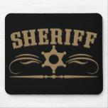 Estilo occidental del sheriff alfombrilla de ratón