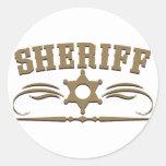 Estilo occidental del sheriff etiquetas redondas