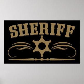 Estilo occidental del sheriff poster