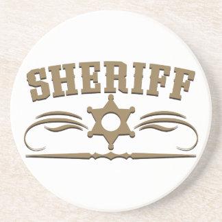 Estilo occidental del sheriff posavasos manualidades