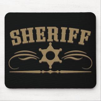 Estilo occidental del sheriff alfombrilla de raton