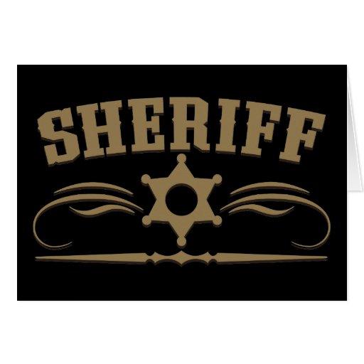 Estilo occidental del sheriff tarjeta de felicitación