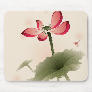 Estilo oriental Lotus Alfombrilla De Raton