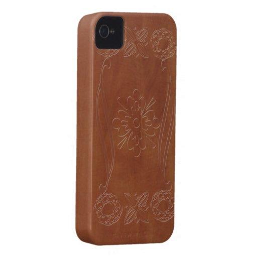 Estilo ornamental de madera iPhone 4 Case-Mate protectores