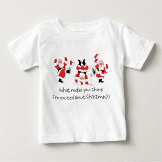 Estilo Papá Noel del vintage emocionado sobre Camisetas