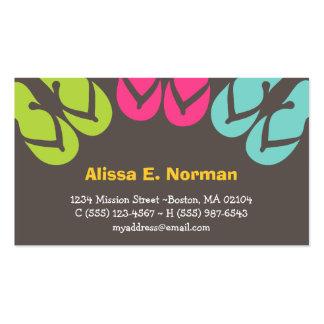 Estilo personal tropical de las sandalias colorida tarjeta de visita