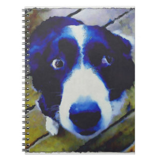 Estilo pintado ojos tristes del perro de perrito libro de apuntes