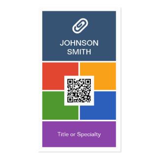 Estilo plano creativo moderno del metro con código tarjetas de visita