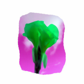 Estilo púrpura de la acuarela del cielo de la flor escultura fotográfica