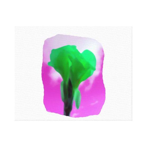 Estilo púrpura de la acuarela del cielo de la flor lona estirada galerías