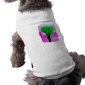 Estilo púrpura de la acuarela del cielo de la flor playera sin mangas para perro
